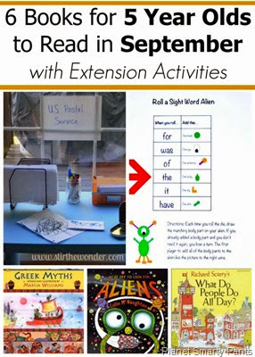 September Books for 5 Year Olds With Extension Activities