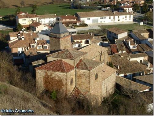 Iglesia de Monreal desde el cerro del castillo