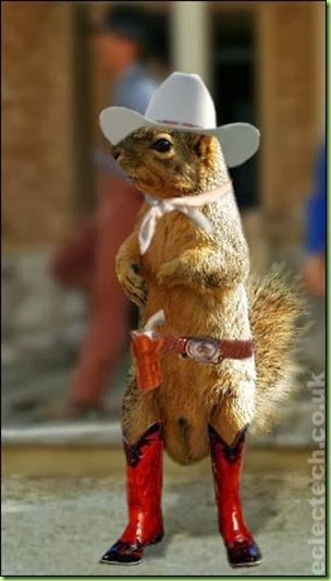squirrell in boots