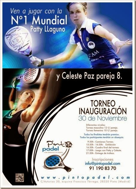 Torneo Inauguración de Pinto Pádel Club: torneo, exhibición, actividades, premios y mucho más!