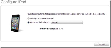 Configura iPod