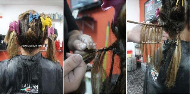 como clarear o cabelo com tranças