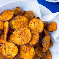 Baked BBQ Sweet Potato Chips