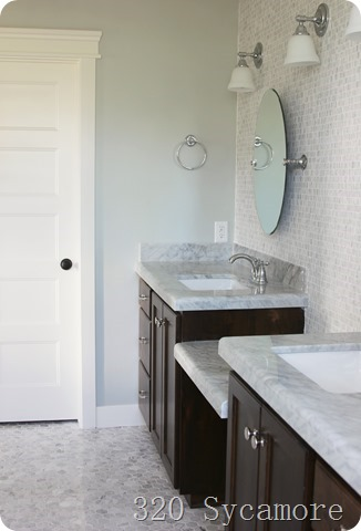 toilet room and counters