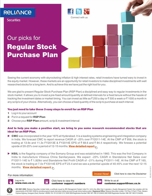 Regular Stock Purchase Plan