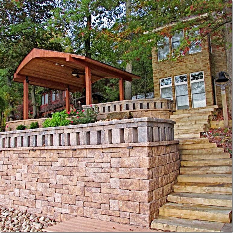 A - house, deck, pav 