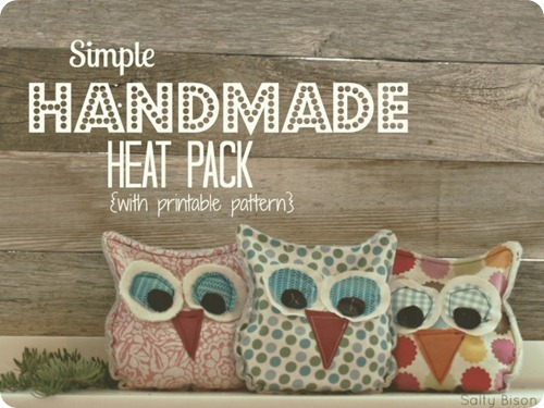 handmade owl heat packs at 30 handmade days