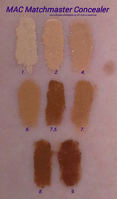 MAC Stick Concealer, MatchMaster Concealer Stick Swatches of Shades