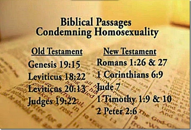 Bible-- Homosexuality Ungodly Abomination