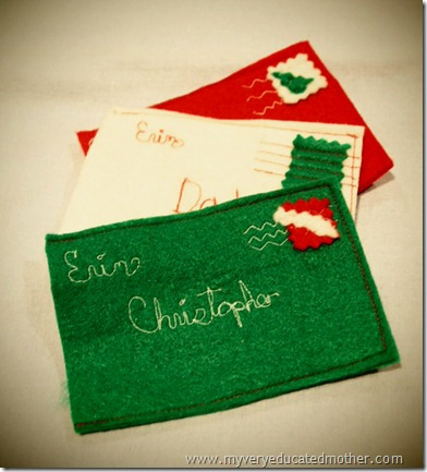 @mvemother Felt Envelope Gift Card Holder