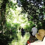 カクスにて 水没した森林の中をロング・ボートでツバメの巣のある洞窟へ向かうところ / At Kakus: traveling on the swollen stream in longboats to visit a cave in which swiftlets make their nests