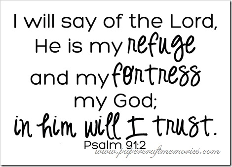 Psalm 91:2 WORDart by Karen for personal use