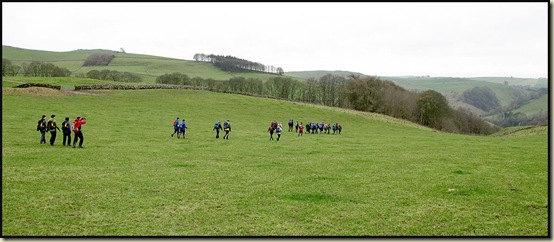 Walkers descend towards Dovedale