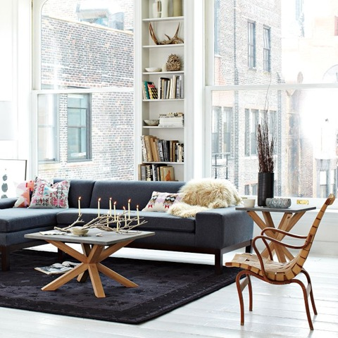 mordern scandinavian style with persian rug