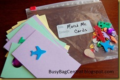 Match Me Cards Busy Bag
