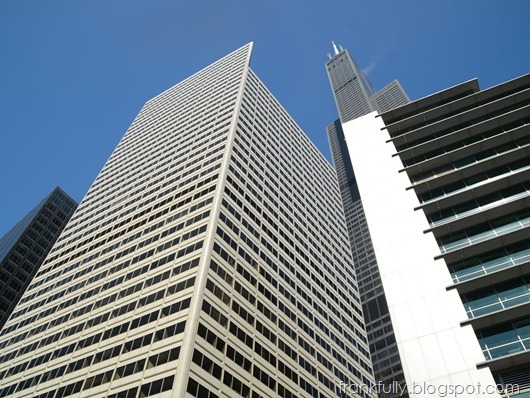 A view up from the Chicago River