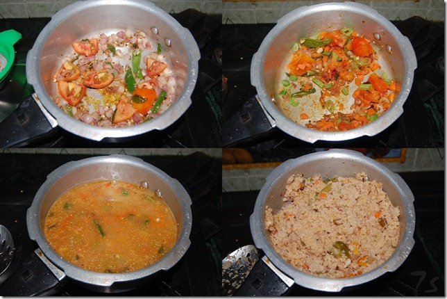 Broken wheat upma process
