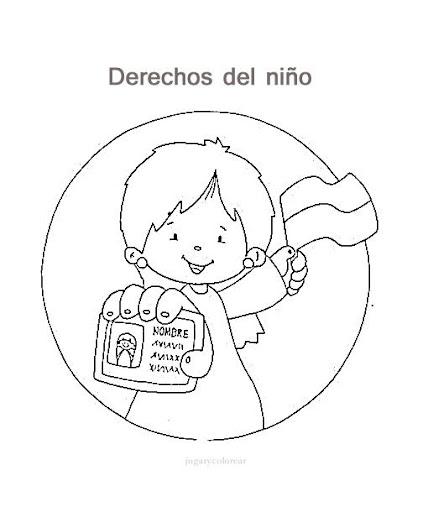 Dibujos de los derechos del niño para pintar   Manualidades ...