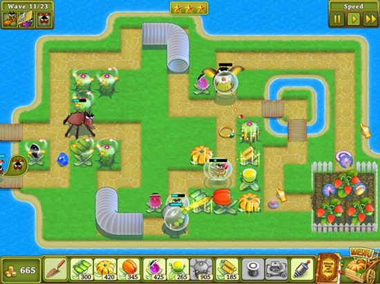 A serious menace has approached the peaceful garden and you must help defend it in Garden Rescue!