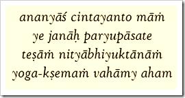 Bhagavad-gita, 9.22