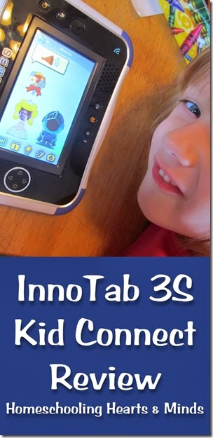 A review of Kid Connect for VTech's InnoTab 3S.  Win a VTech InnoTab 3S from Homeschooling Hearts & Minds.  Ends 11/17