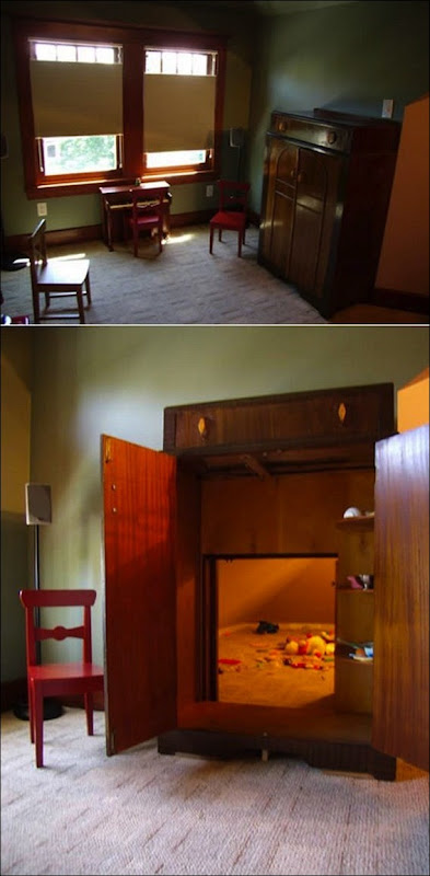 1. Wardrobe Hidden Playroom