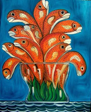 fish in a vase