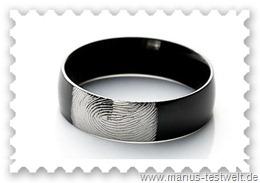 Manus Ring in schwarz