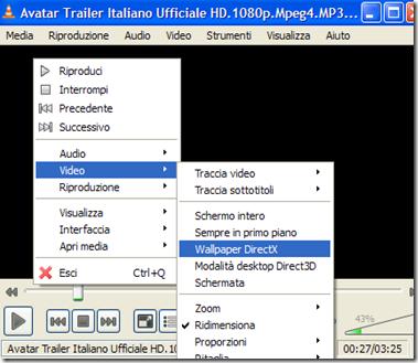 VLC Video Wallpaper DirectX