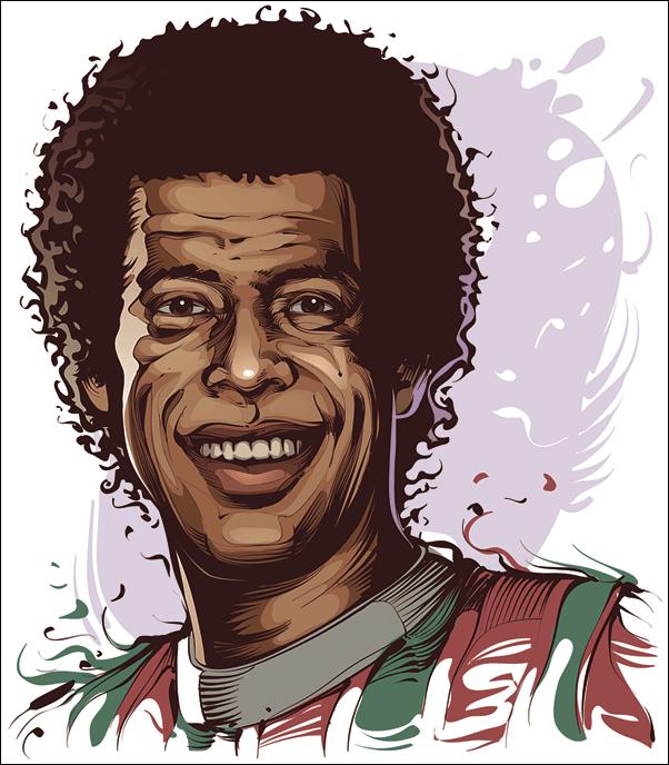 Carlos Alberto -  Capitaine de l'équipe de football, champions du monde en 70.