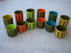 Selection of 12, two part plastic tumblers