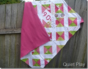 Signature quilt with backing