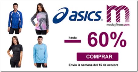 Hasta un 60% de descuento en camisetas y sudaderas ASICS. Sólo hasta el 7 de octubre!