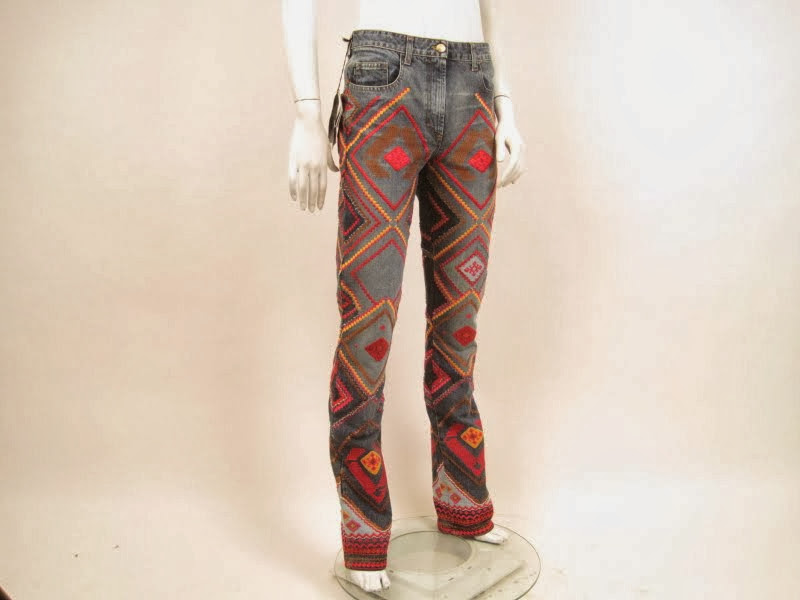 Just Cavalli Embroidered Jeans
