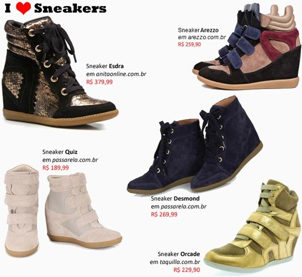 sneakers modelos femininos onde comprar