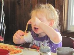 Pa Raffas 7.125.2013 Bellz eating spagetti5