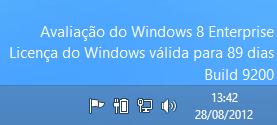 Versão de avaliação do Windows 8 Enterprise