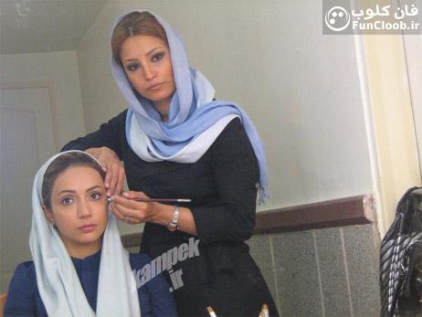 عکسهای بازیگران زن ایرانی در حال گریم