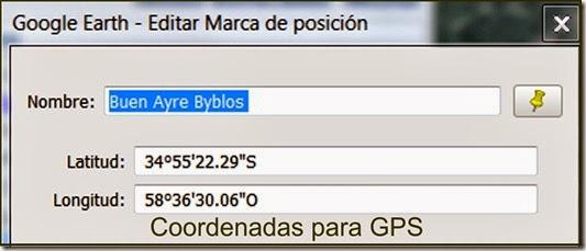 Coordenadas para GPS