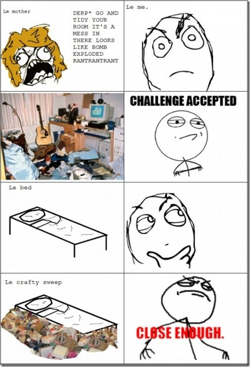 Cleaning the Room Challenge Accepted