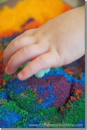 Edible Sand from 123 Homeschool 4 Me