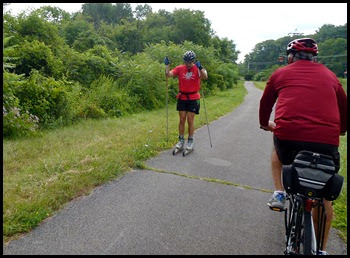 02j - Mohawk River (Erie Canal) Bike Trail heading NW - yep it's a multi-use trail