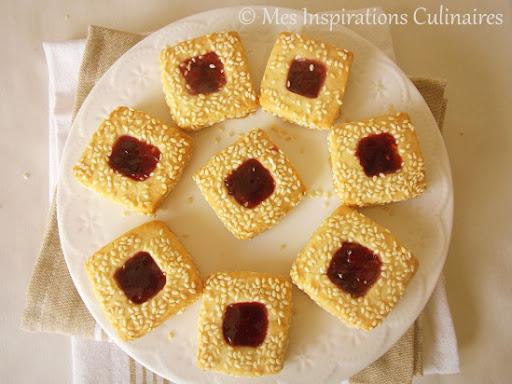 Gâteaux secs aux graines de sésame (djeldjlène)