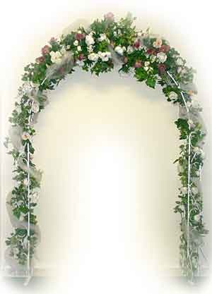 I had always wanted a floral arch for the church