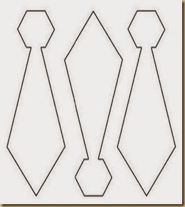 molde gravata papai