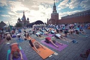 Йога-марафон на Красной площади