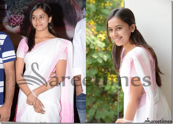 Sri_Divya_White_Saree