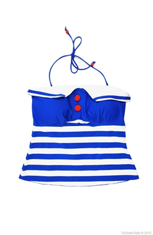 navy-style-separated-striped-swimsuit