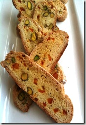 pistachio & orange biscotti