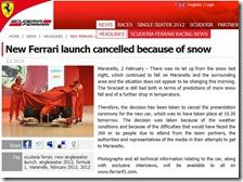 Annullata la presentazione della Ferrari